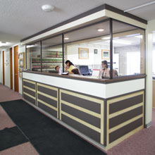 Front reception at the Omineca Medical Clinic